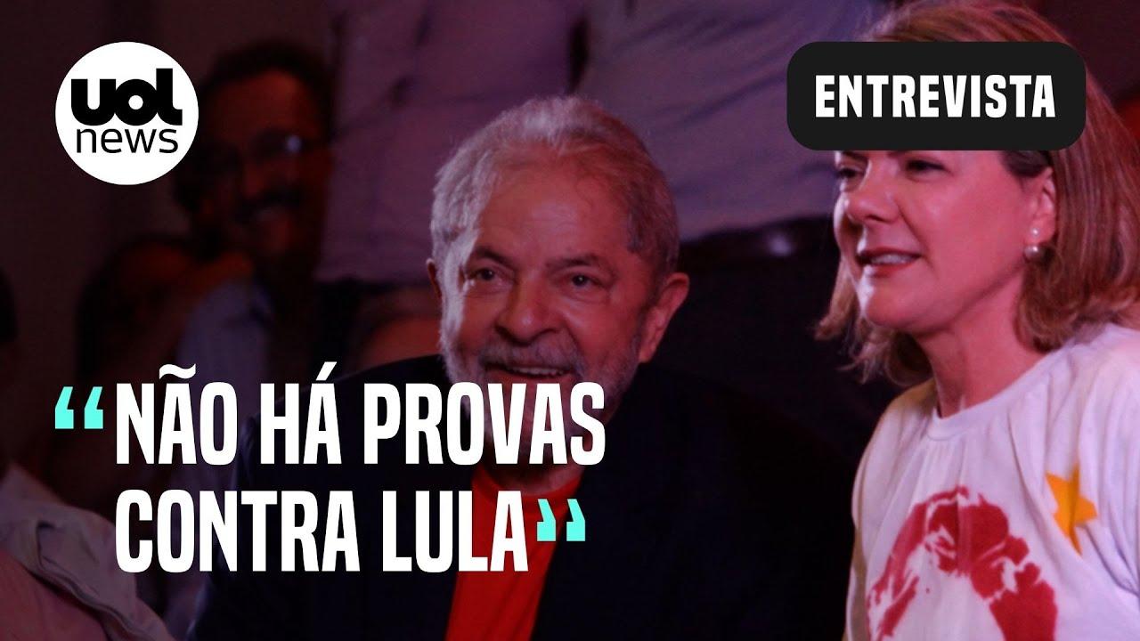 """Download """"Lula, além de livre, é um homem inocente"""", diz Gleisi Hoffmann"""