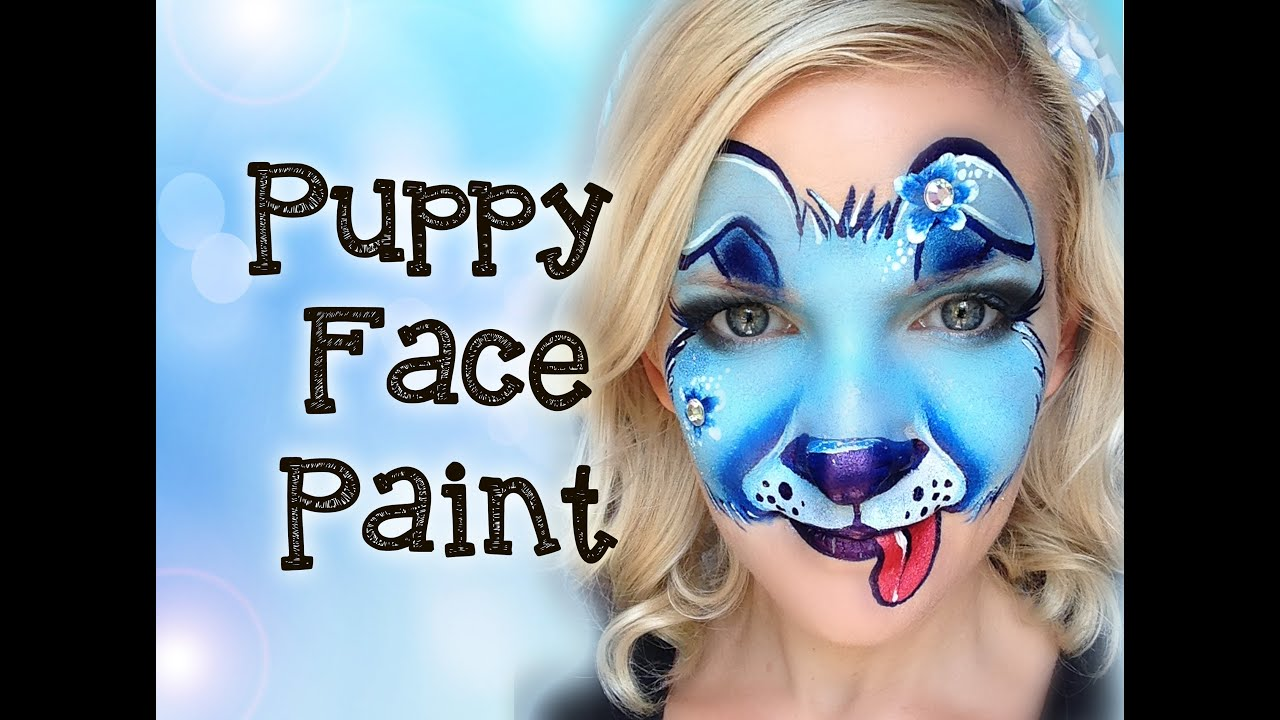 Puppy Dog Face Painting Tutorial Makeup Youtube