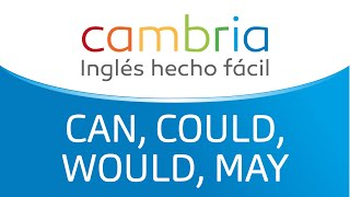 Can, Could, Would, May - Cambria | Inglés hecho facíl