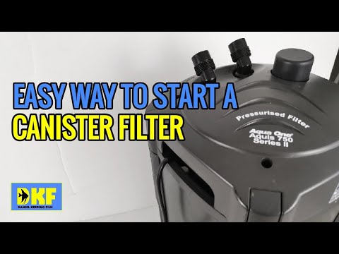Start Canister Filter Easiest Way - No Need To Prime.