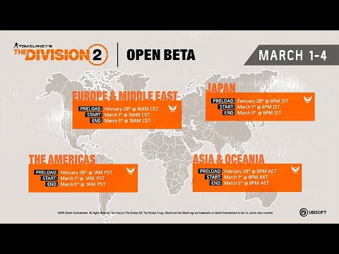 Tom Clancy's The Division 2 - Open Beta (Bug out Sound) - Full Broadcasted  on 03/03/2019 - Day 3