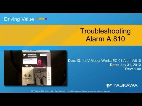 MotionWorks IEC - Absolute Encoder Reset (A.810 Alarm)