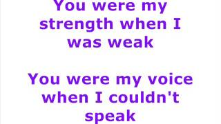 Charice and Celine Dion - Because You Loved Me - lyrics