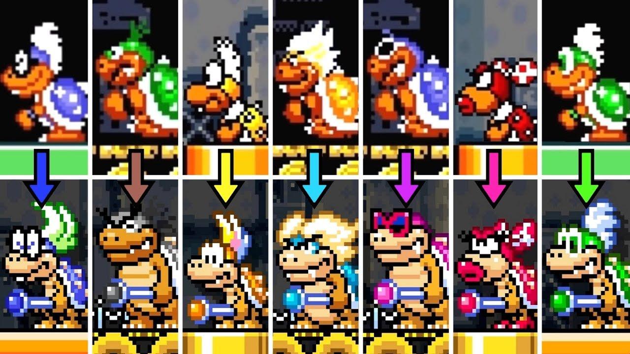 Super Mario World Koopaling Boss Rush Recreated In Super Mario Maker 2 Youtube