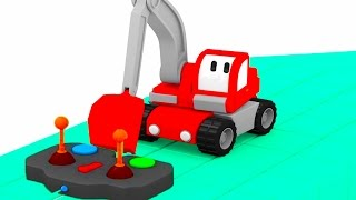 The Submarine - Learn with Tiny Trucks: bulldozer, crane, excavator | Educational cartoon for kids