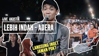 Download Mp3 Lebih Indah - Adera  Lirik  Live Akustik Cover By Tri Suaka