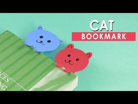 Paper Cat Bookmarks - Very Simple DIY Crafts for Kids