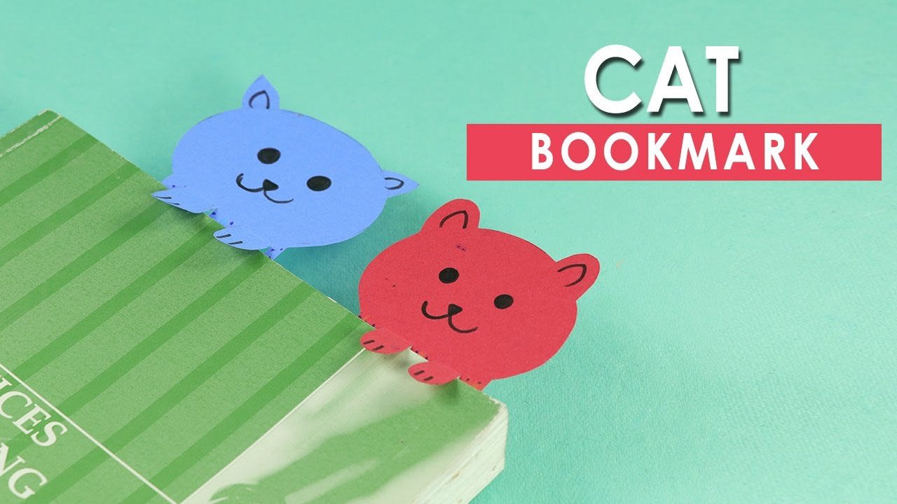 Paper Cat Bookmarks Very Simple Diy Crafts For Kids Youtube