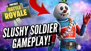 SLUSHY SOLDIER Skin Gameplay In Fortnite Battle Royale