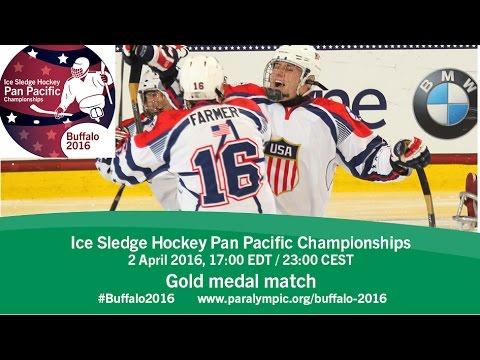 Gold medal game| 2016 Ice Sledge Hockey Pan Pacific Championships, Buffalo