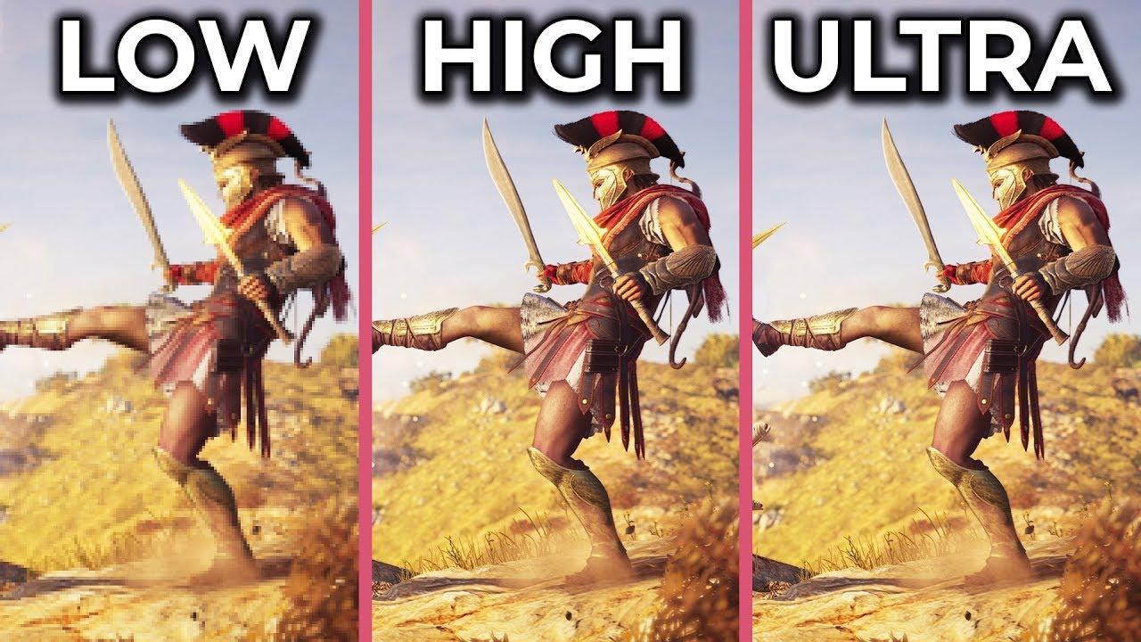 Посмотрите, сколько FPS выдает Assassin's Creed Odyssey в 4K с минимальной и максимальной графикой — видео