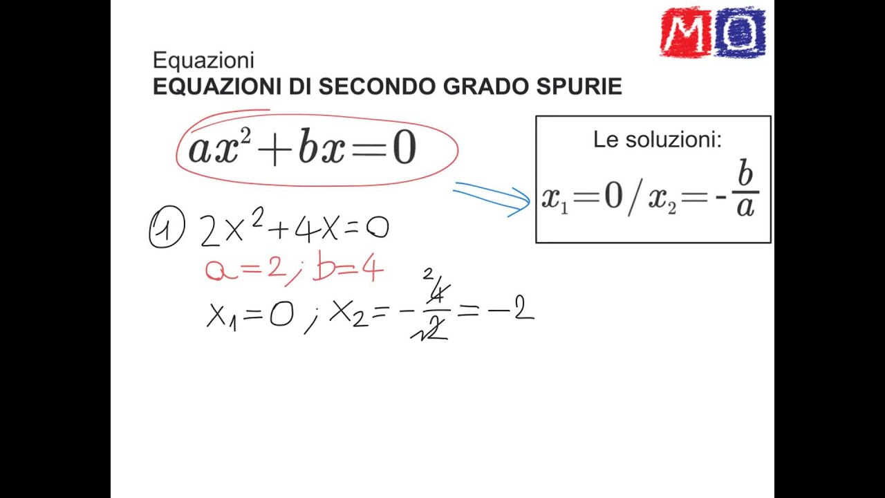 Equazioni di secondo grado spurie youtube - Tavola di tracciamento secondo grado ...
