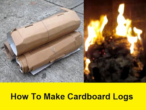How To Make Cardboard Logs Youtube