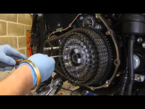 Harley Davidson Sportster Primary Case Removal, Clutch Pack Removal & Refit