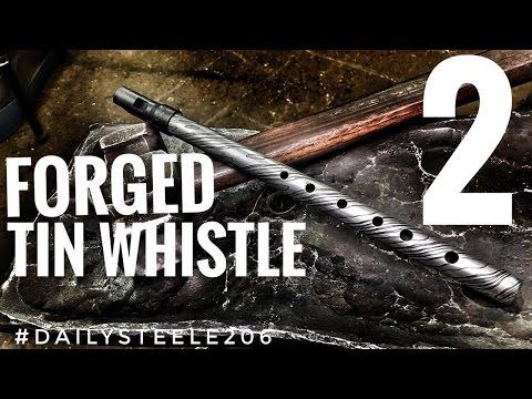 FORGING DAMASCUS MUSICAL INSTRUMENTS: Tin Whistle Part 2