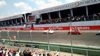Desfile de los pilotos de f1