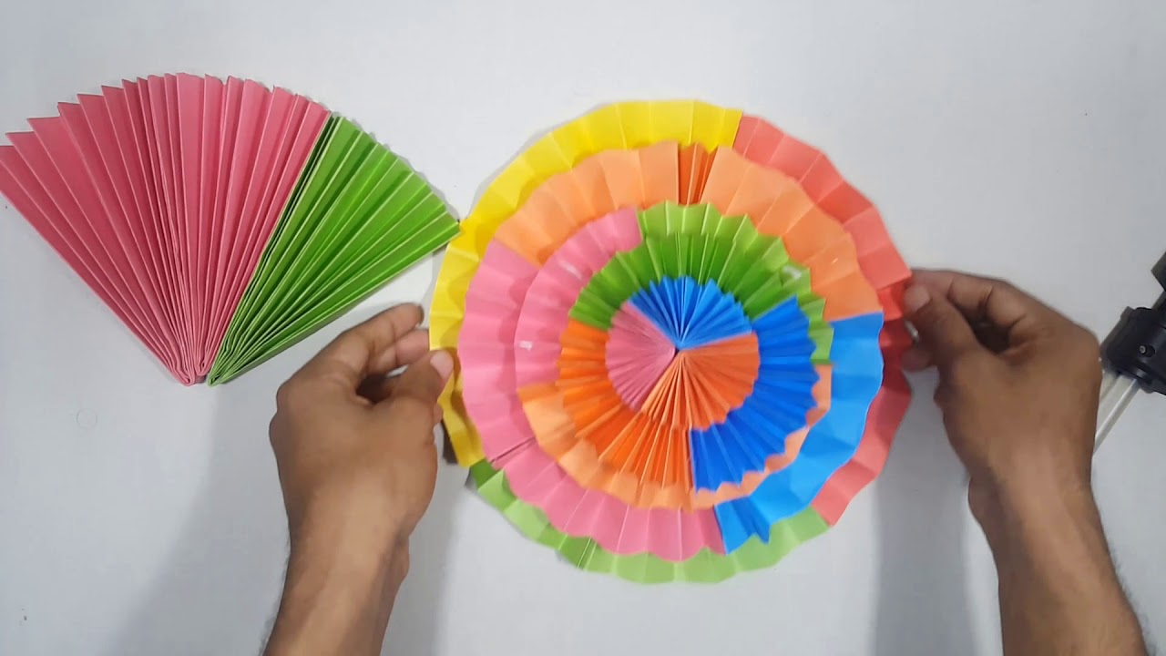 How To Make Easy Wall Hanging Flower Beautiful Paper Flower Making