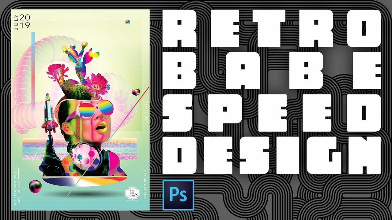 Epic Retro Babe Speed Design Using Photoshop - @Priyanka_TheArtForest