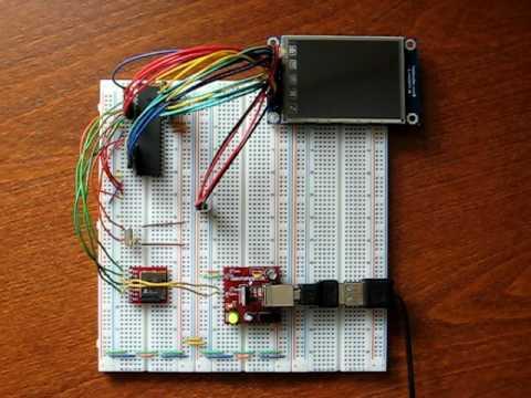 8 Bit Microcontroller Touchscreen Digital Photo Frame Youtube