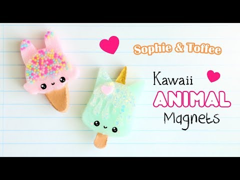 Kawaii Animal Magnets│Sophie & Toffee Subscription Box February 2019