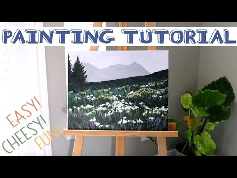 Acrylic Landscape Painting For Beginners – Painting With Gibby
