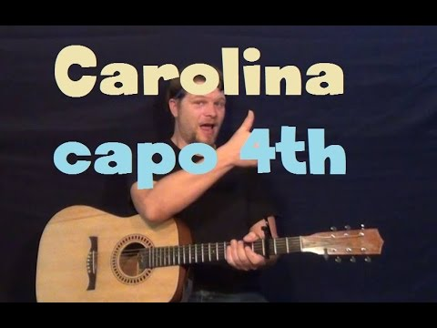 Carolina (Parmalee) Easy Guitar Lesson Strum Chord Licks How to Play Tutorial Capo 4th Fret