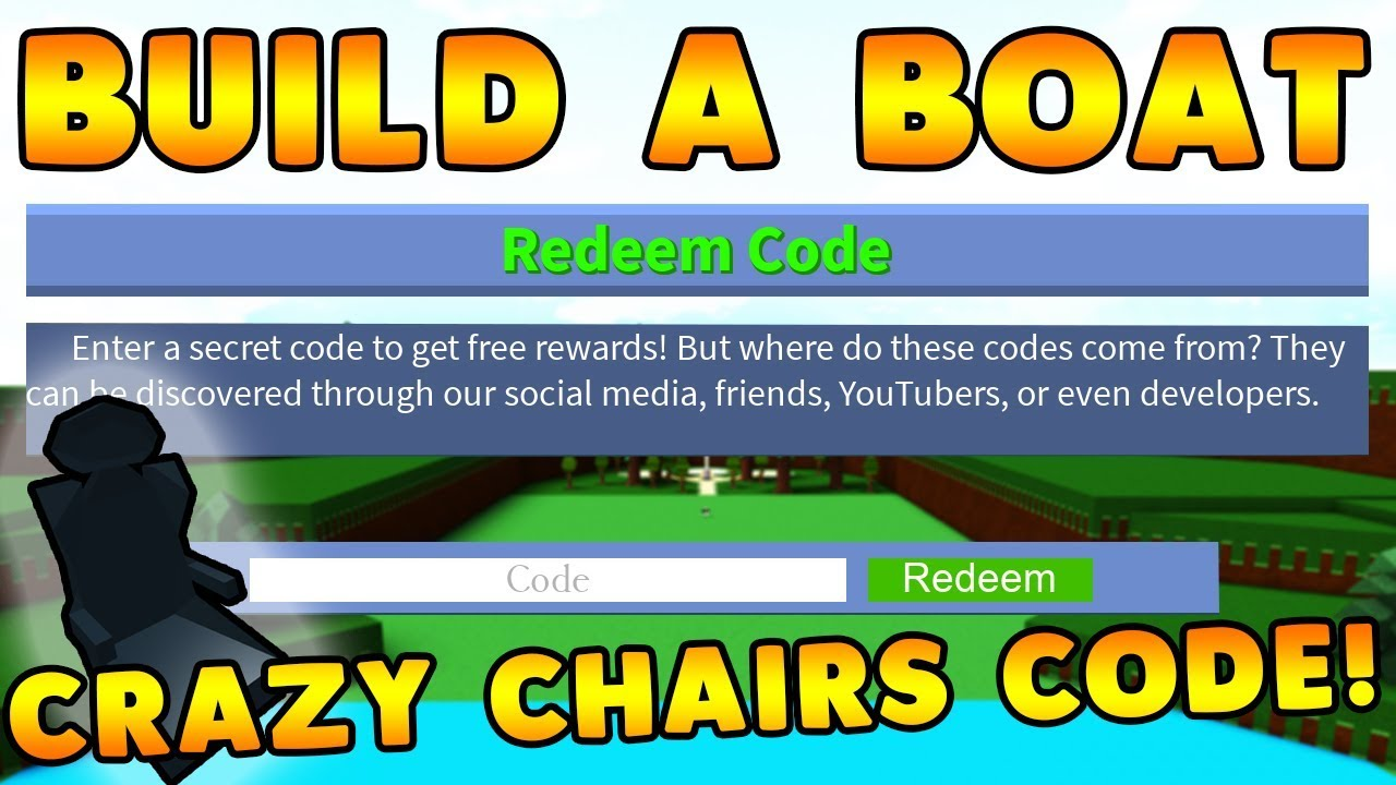 New Crazy Chair Code Build A Boat For Treasure Roblox Youtube