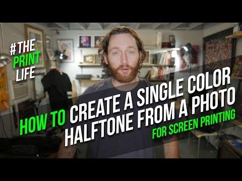 1 color halftone film tutorial for silk screen printing: the print life vlog