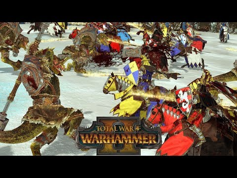 Triumph of Chivalry - ALL CAV BRETONNIA vs Norsca // Total War: Warhammer II Online Battle