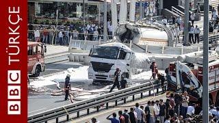 Avcılar'da tanker kazası ardından yaşananlar - BBC TÜRKÇE