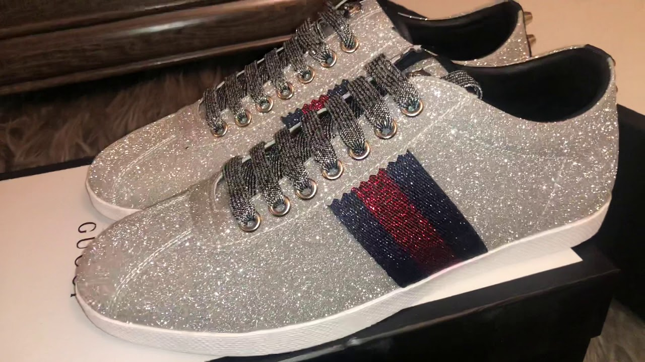 buying now online for sale lower price with GUCCI ACE GLITTER SNEAKER REAL VS FAKE - YouTube