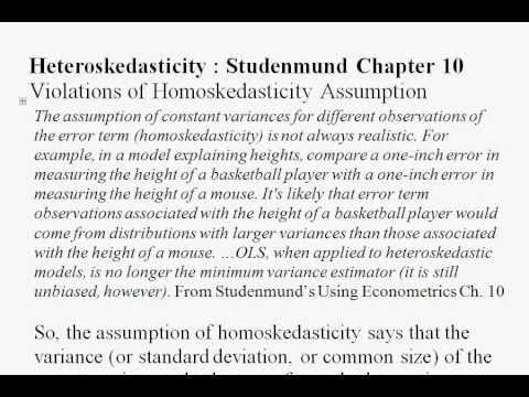 econometrics heteroskedasticity Heteroskedasticity and autocorrelation fall 2008 environmental econometrics (gr03) hetero - autocorr fall 2008 1 / 17.