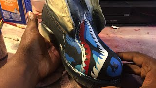 How To Paint | Seirato Bape | Custom Timberland Boots | By Gymshoe Pt 2