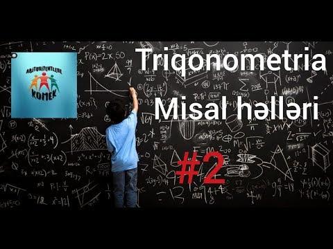 Triqonometria misal həlləri
