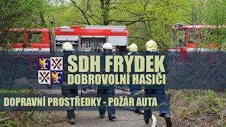 Události - SDH Frýdek   Dopravní prostředky - požár auta 2.2.2013