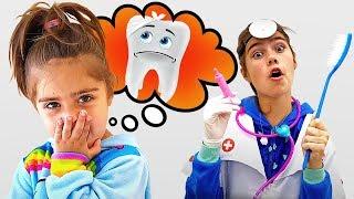 나스탸와 아르템 그리고 미아   양치질은 아주 중요해요! 어린이를 위한 이야기