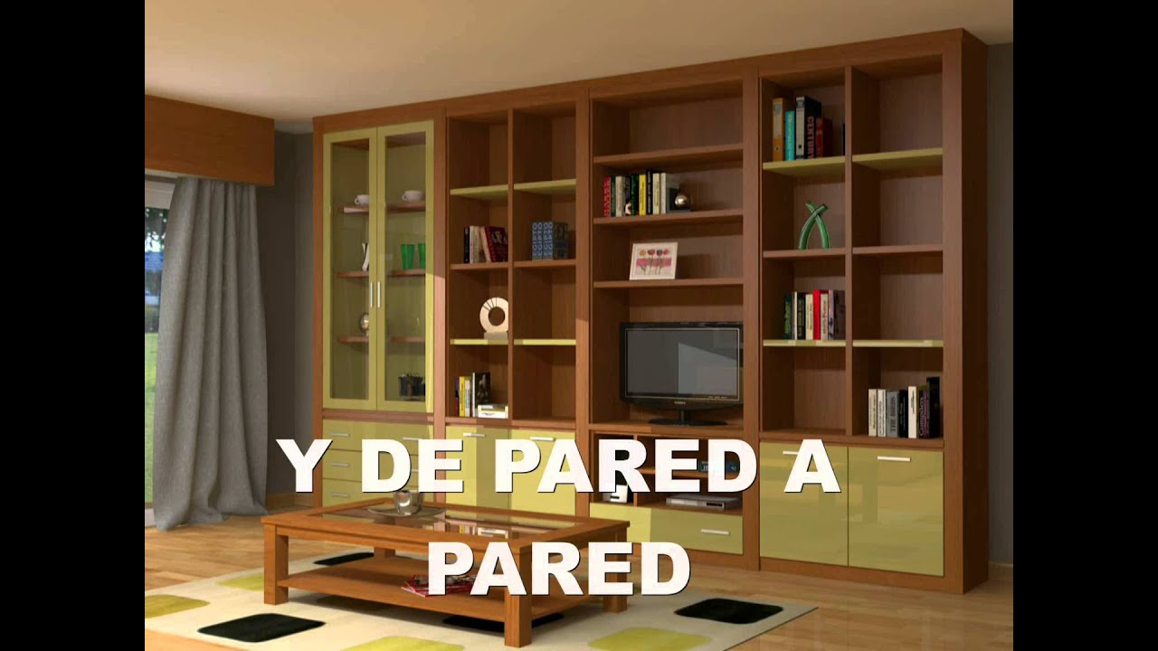 Muebles de sal n moderno compacto youtube for Muebles compactos salon