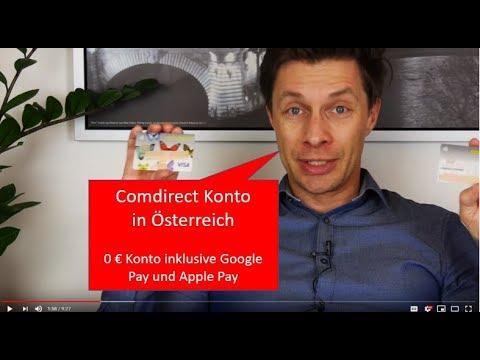 Comdirect Konto In österreich Google Pay Und Apply Pay Beim Gratis