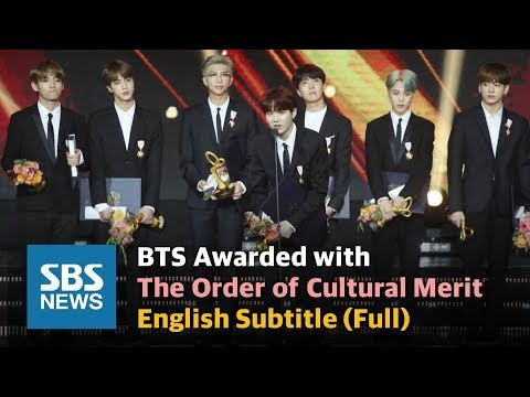 "BTS ""All this glory to ARMYs"" Awarded with the Order of Cultural Merit - English Sub (Full) / SBS"