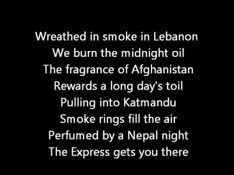 Rush-A Passage To Bangkok (Lyrics)