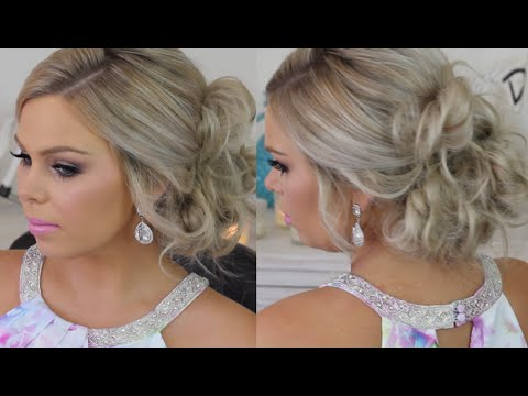 Formal Hair Messy Side Bun Tutorial - YouTube