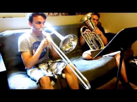 Family Guy Theme Song - Trombone & Baritone Duet