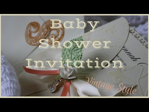 Baby Shower Invitation: Vintage Style