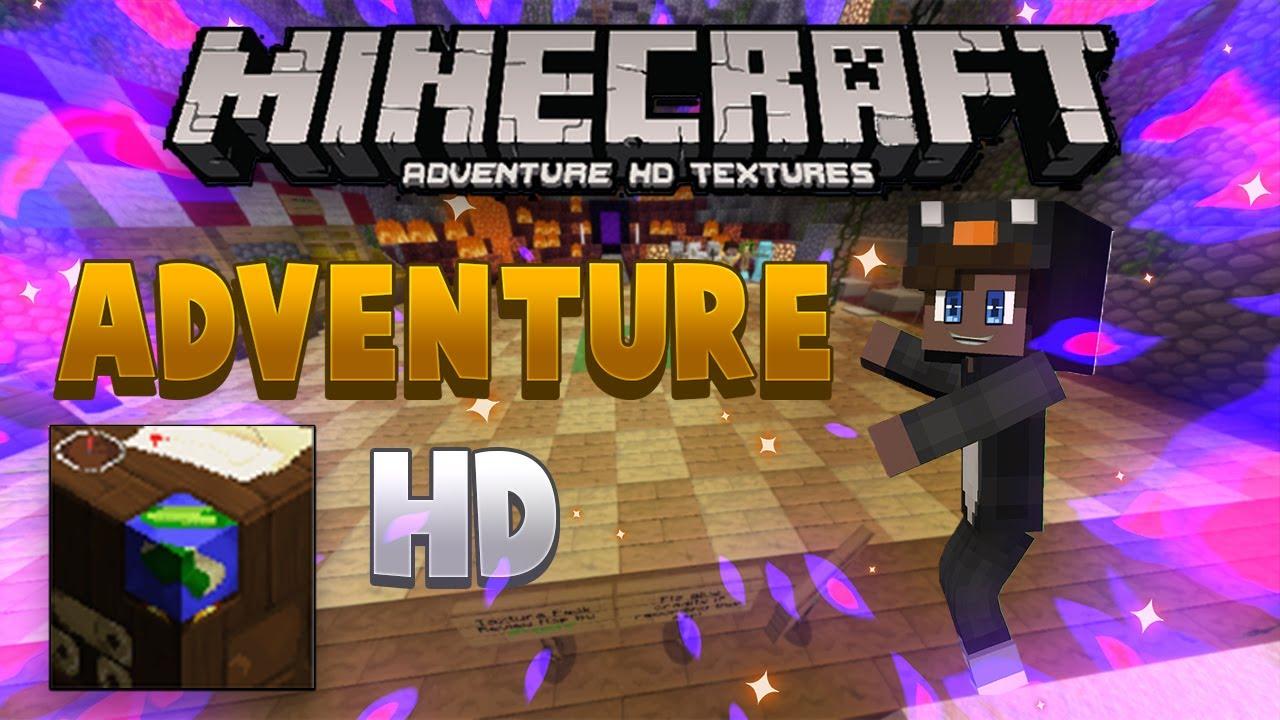 TEXTURE PACK    MINECRAFT PE 1.16    REVIEW DE TEXTURA    ADVENTURE HD TEXTURES - YouTube