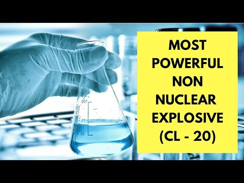 Most powerful non nuclear explosive (CL-20)
