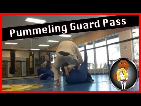 BJJ Roll No. 103 - Pummeling Guard Pass - w/Coach Elijah at Smiley Academy