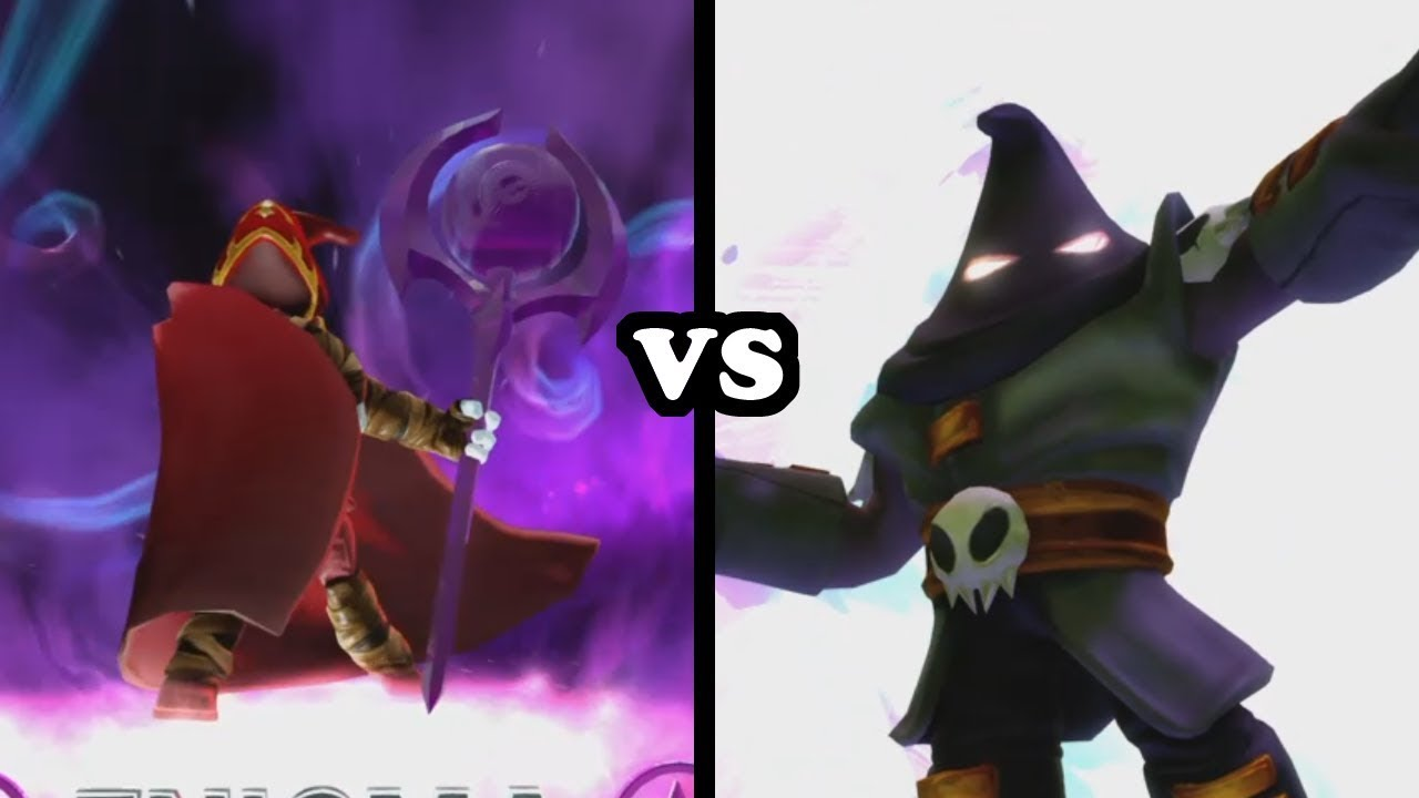 Skylanders Trap Team - Enigma VS Hood Sickle - YouTube