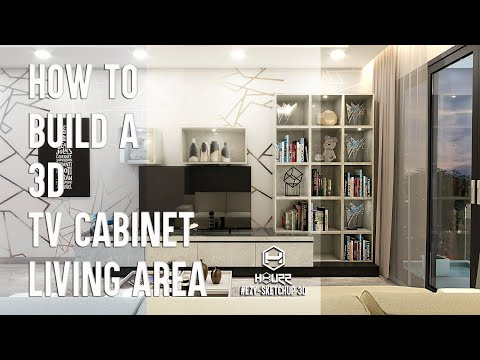 Sketchup Tutorial Beginners - How to build TV cabinet in Living thumbnail