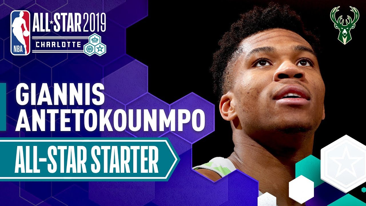 Giannis Antetokounmpo 2019 All-Star Captain   2018-19 NBA Season