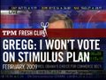 Gregg: I'm Recusing Myself From Voting on the Stimulus Plan